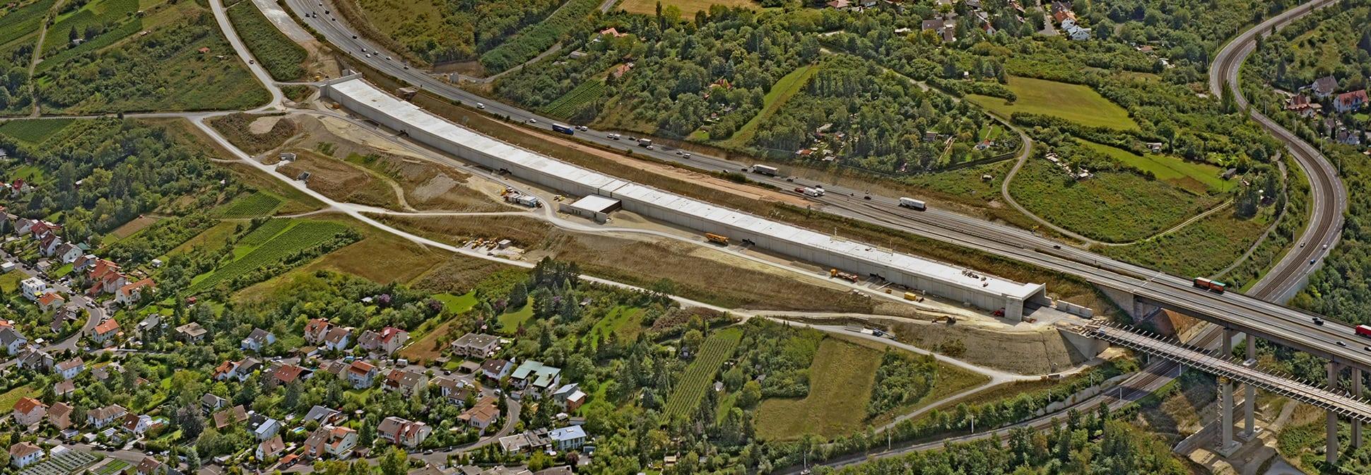 Katzenbergtunnel A3 Würzburg Zugang