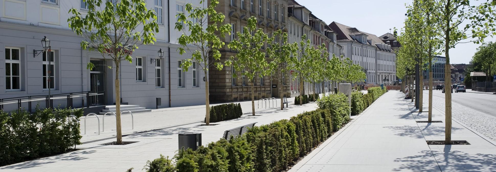 Neugestaltung der Promenade, Ansbach