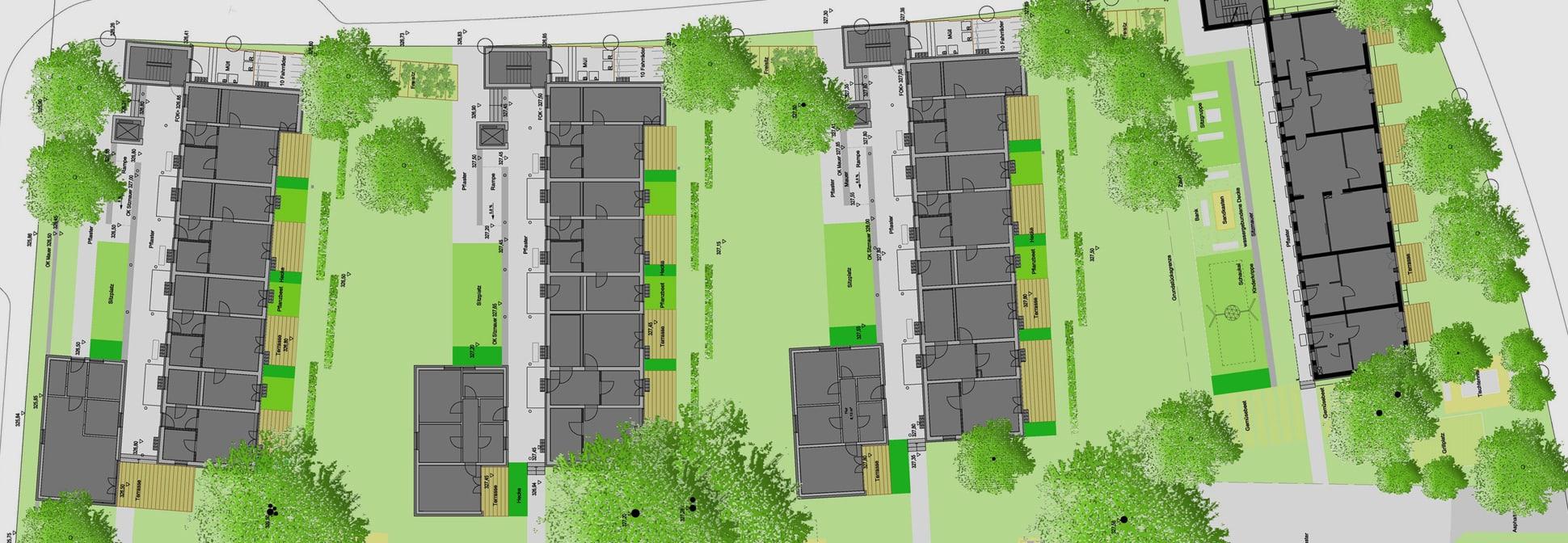 """Sozialer Wohnungsbau """"WAL"""", Dresdner Straße, Nürnberg - Lageplan"""