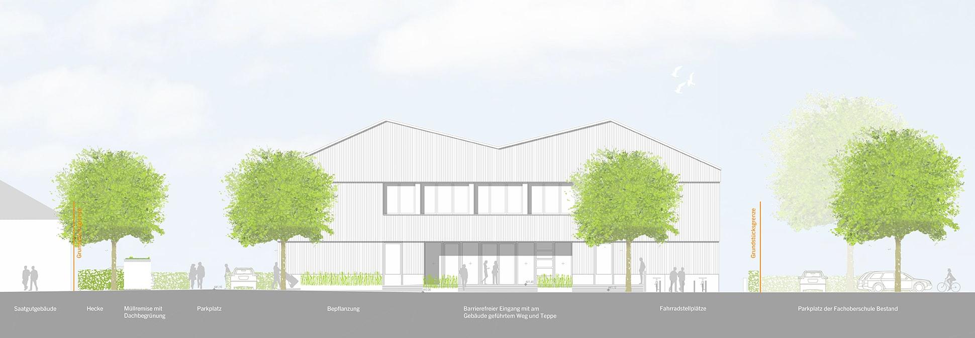 Staatliches Berufliches Schulzentrum Ansbach-Triesdorf, Schnitt